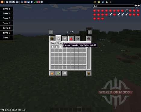 Instant Structures by MaggiCraft для Minecraft