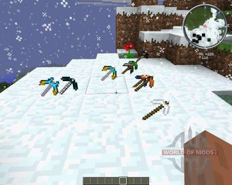More Pickaxes для Minecraft