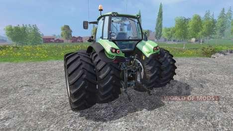 Deutz-Fahr Agrotron 7250 dynamic rear twin wheel для Farming Simulator 2015