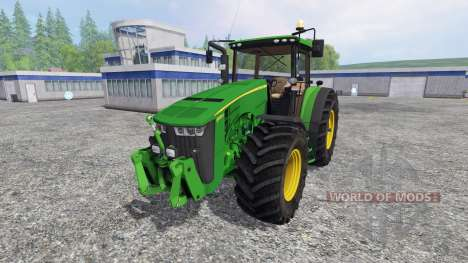 John Deere 8370R v3.0 [Ploughing Spec] для Farming Simulator 2015