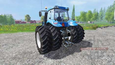 New Holland T8.320 with twin dynamic rear wheels для Farming Simulator 2015
