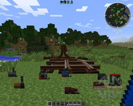 Rails of War Mod для Minecraft