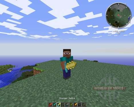 Cyan Warrior Swords для Minecraft