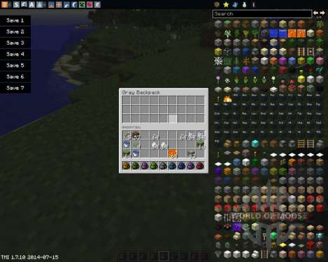 Backpacks для Minecraft