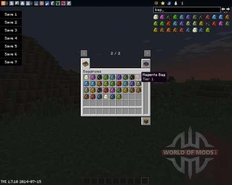 Bagginses для Minecraft