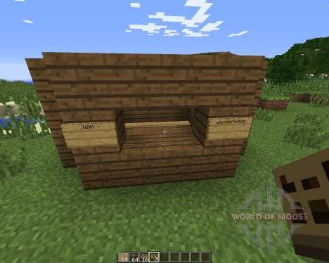 FlatSigns для Minecraft