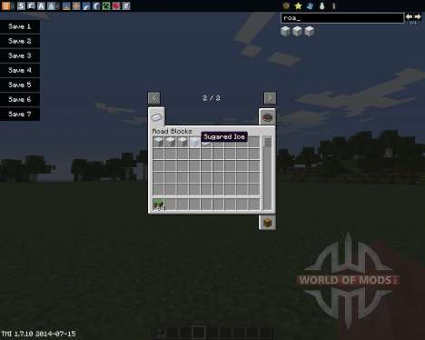 Road Blocks для Minecraft