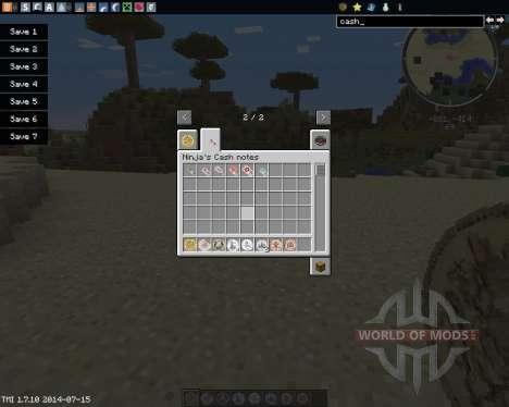 Ninjas Cash для Minecraft