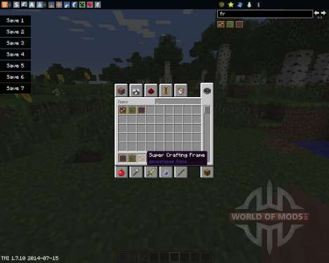Super Crafting Frame для Minecraft