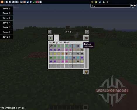 ClothingCraft для Minecraft