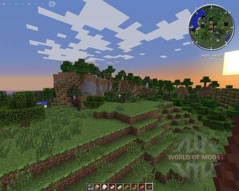 Clock HUD для Minecraft