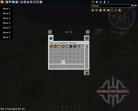 Time & Weather stones для Minecraft