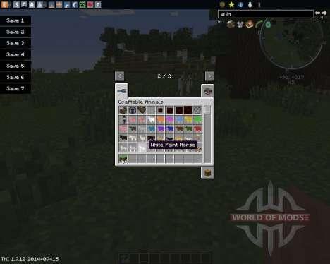 Craftable Animals для Minecraft