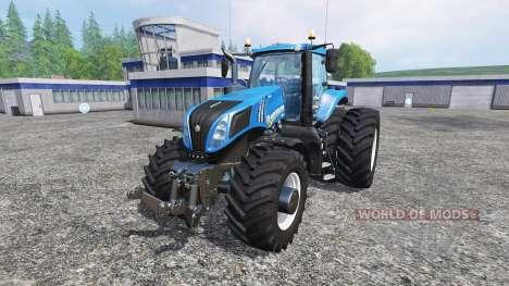 New Holland T8.320 with twin dynamic rear wheels для Farming Simulator 2015