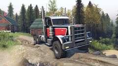 Peterbilt 379 v1.1 red black для Spin Tires
