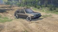 Volkswagen GOLF MK2 GTI для Spin Tires