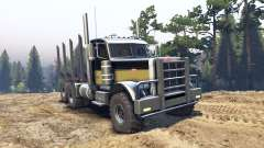 Peterbilt 379 black and green для Spin Tires