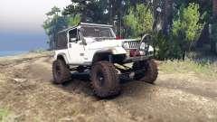 Jeep YJ 1987 white для Spin Tires