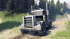 Peterbilt 379 v1.1 black and green для Spin Tires