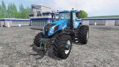 New Holland T8.320 with twin dynamic rear wheels