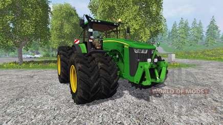 John Deere 8370R v2.0 Ploughing Spec для Farming Simulator 2015
