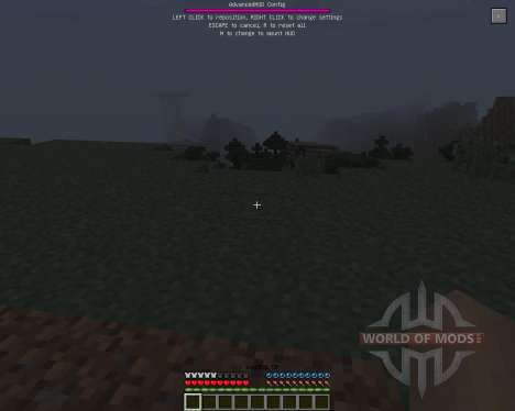 Advanced HUD [1.7.2] для Minecraft