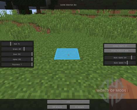 Custom Selection Box для Minecraft