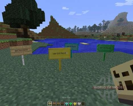 MoarSigns [1.6.4] для Minecraft