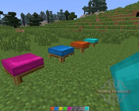 Dyeable Beds [1.6.4] для Minecraft