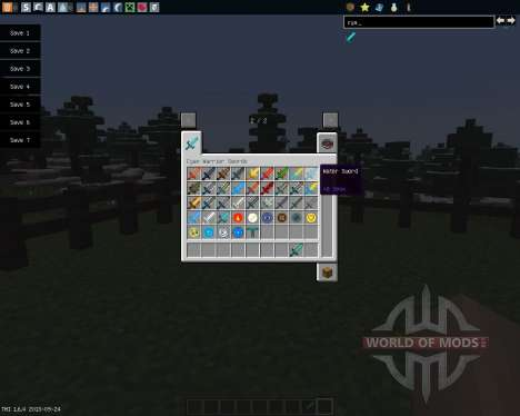 Cyan Warrior Swords [1.6.4] для Minecraft
