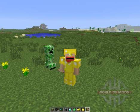Tameable (Pet) Creepers [1.6.4] для Minecraft