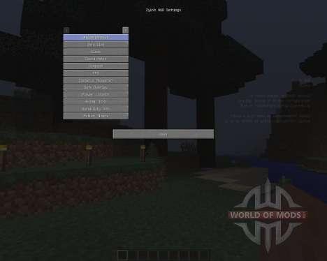 Zyins HUD [1.8] для Minecraft