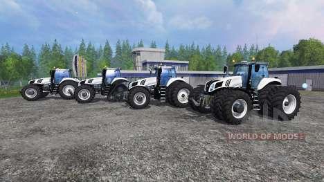 New Holland T8 [pack] v1.5 для Farming Simulator 2015