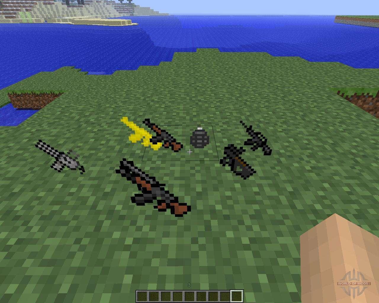 мод на 3d оружие в майнкрафт 1.6.4 #8