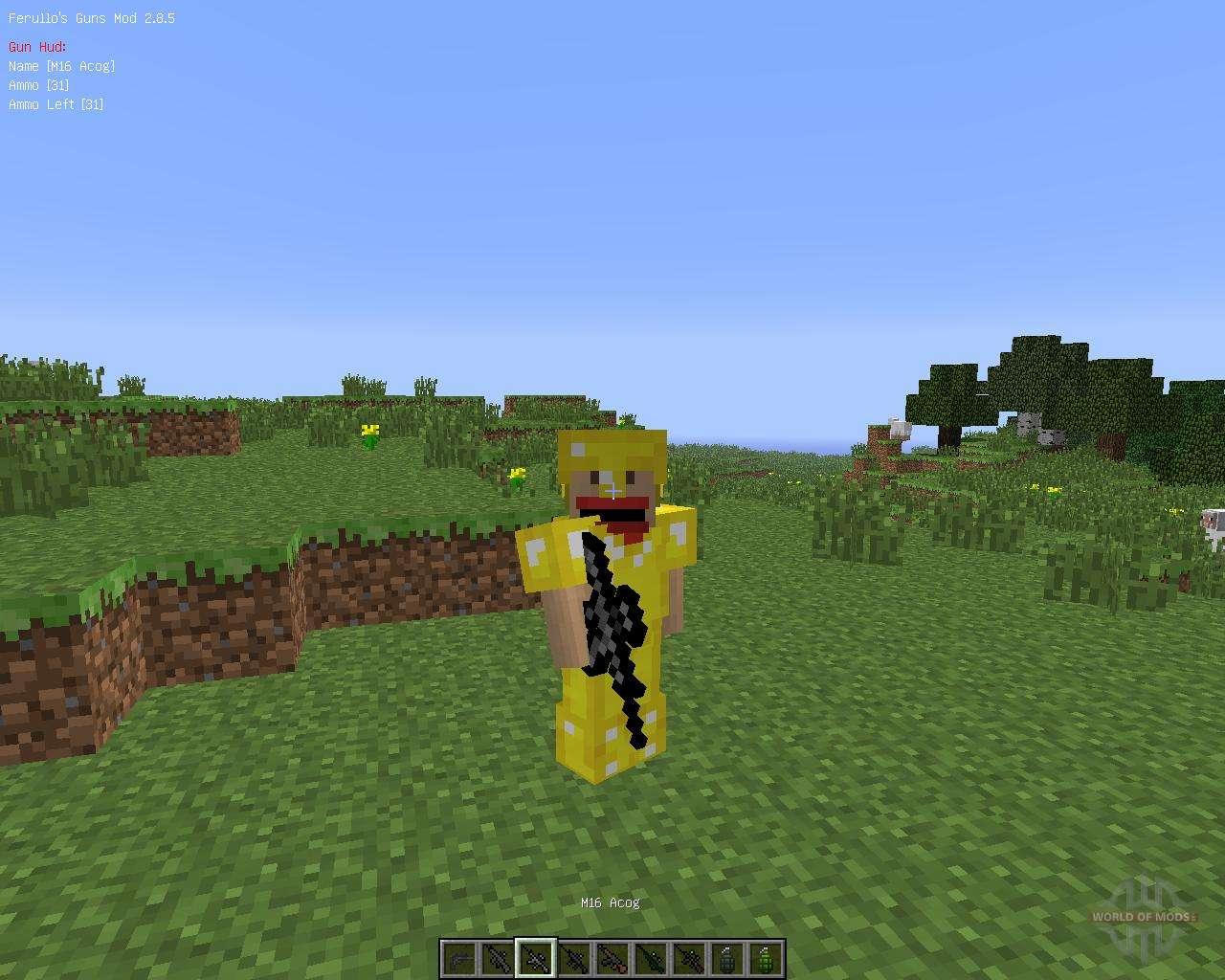 Скачать мод 3D Gun Mod для Minecraft 1.6.4
