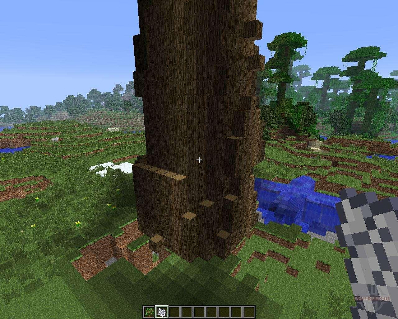 большие деревья мод 1.8.0 майнкрафт
