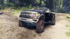 Ford Raptor SVT v1.2 factory tuxedo black для Spin Tires