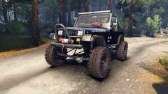 Jeep YJ 1987 Open Top black для Spin Tires