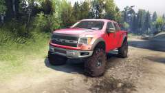 Ford Raptor SVT v1.2 factory sunset red для Spin Tires