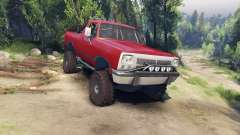 Dodge Ramcharger 1991 Open Top v1.1 blood red для Spin Tires