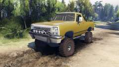 Dodge Ramcharger 1991 Open Top v1.1 olive green для Spin Tires