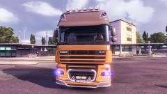 Синее свечение фар для Euro Truck Simulator 2