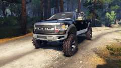 Ford Raptor SVT v1.2 black-gray для Spin Tires