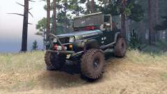 Jeep YJ 1987 Open Top dark green для Spin Tires
