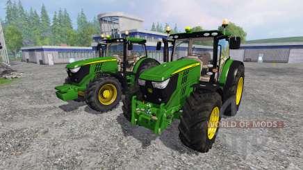John Deere 6170R and 6210R v3.0 для Farming Simulator 2015