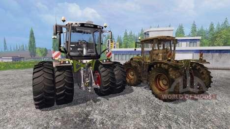 CLAAS Xerion 3800 Trac VC [clean and dirty] для Farming Simulator 2015