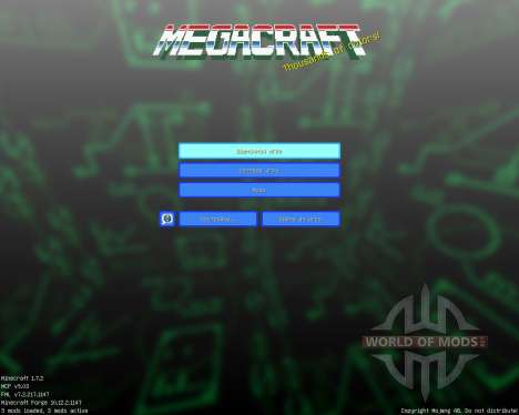 MegacraftClassic [16x][1.7.2] для Minecraft
