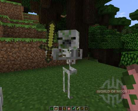 Skeletal Mobs [16x][1.7.2] для Minecraft