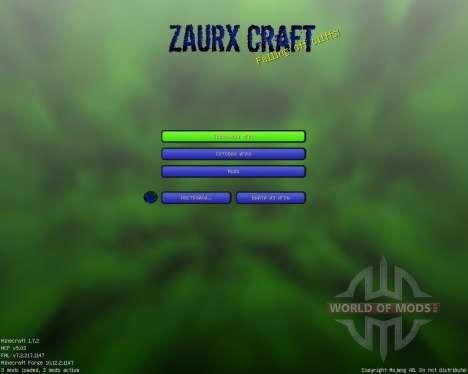 Zaurx Craft [32x][1.7.2] для Minecraft