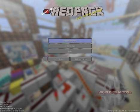 RedPack [16x][1.7.2] для Minecraft